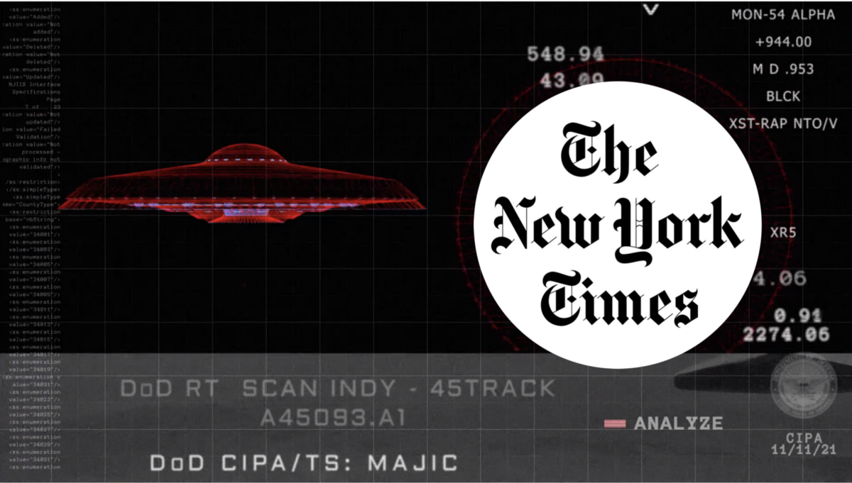 NY Times Crashed UFOs May Exist