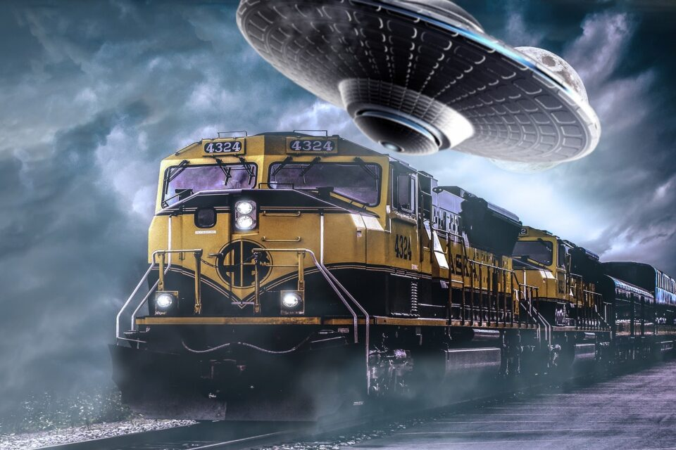 UFO and Train Collide